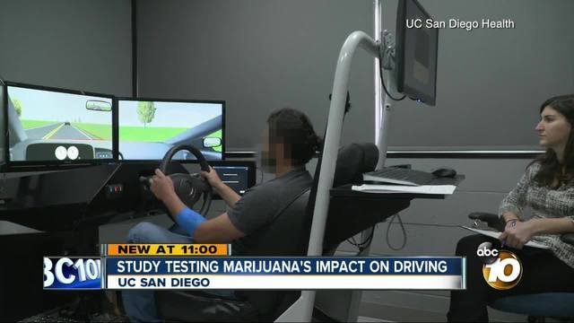 A California college is studying cannabis by having people smoke marijuana and try to drive