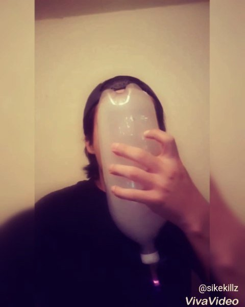 HAVE YOU EVER SMOKED A BLUNT USING A BOTTLE AS A MASK?
