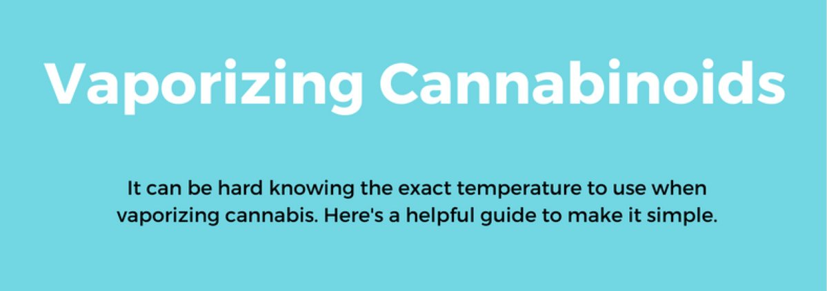 Temperatures for Vaporizing Different Cannabinoids