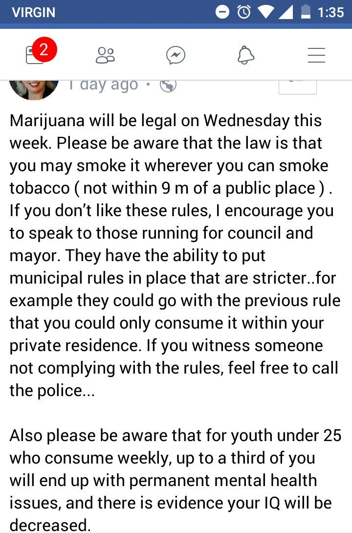Ontario MP on Cannabis laws