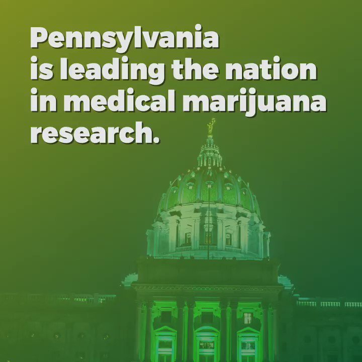 "Pennsylvania governor says his state is ""leading the nation in medical marijuana research."""