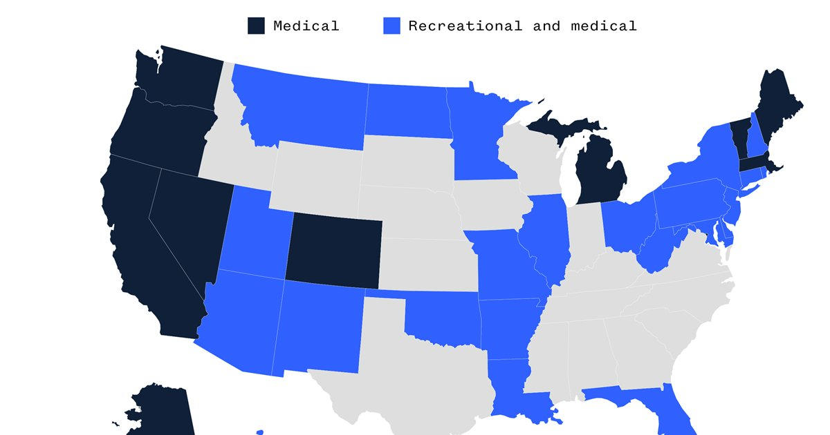 MAP: See the states where marijuana is legal