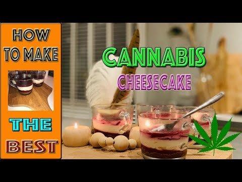 Marijuana Cheesecake Recipe With Cherry Syrup | Greens Studios | 16#
