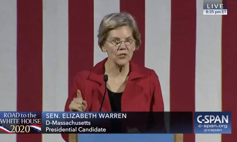 Elizabeth Warren Talks Marijuana in Presidential Campaign Stop