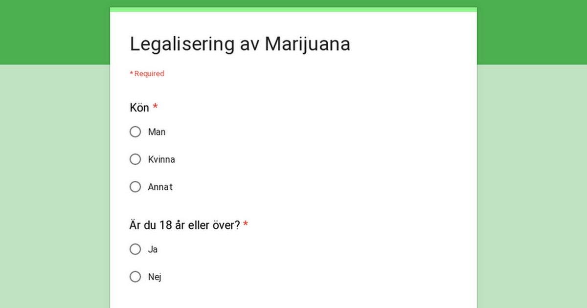 Legalisera Marijuana