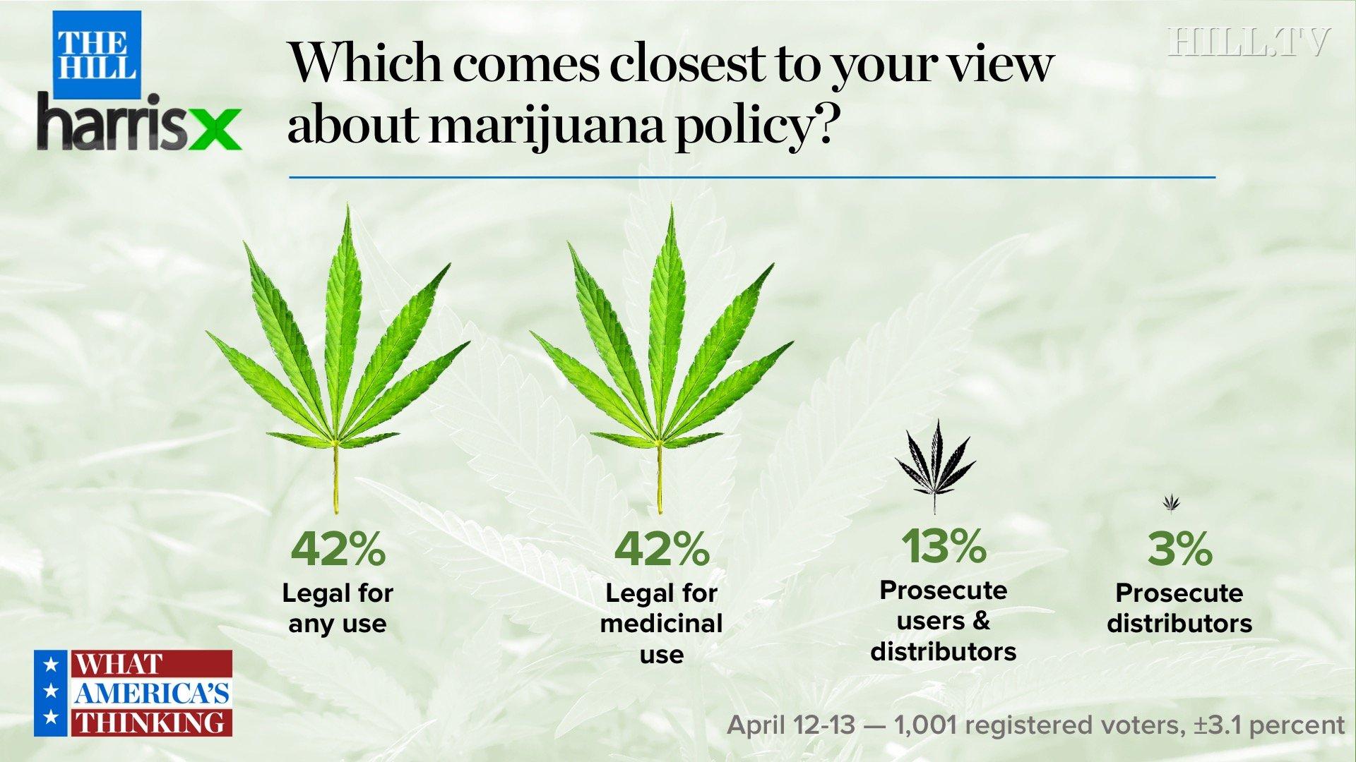 84 percent in new survey say marijuana use should be legal