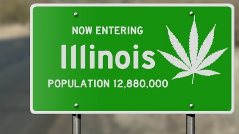 Illinois, which has a population of nearly 13 million, would become the biggest Midwestern state to legalize recreational marijuana, ahead of Michigan.