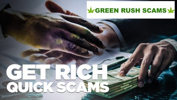 We are starting to see Scams focused on the legal Canadian Marijuana market. Beware of scammers!